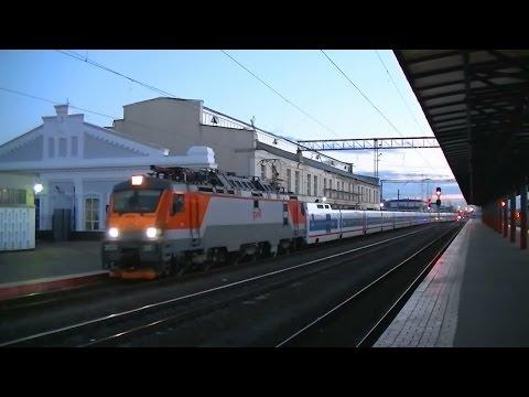 РЖД ЭП20-016 с поездом Стриж Москва - Нижний Новгород
