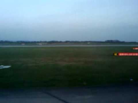 Air Malta First Flight after  Volcanic Ash Taxi And Take off.3gp