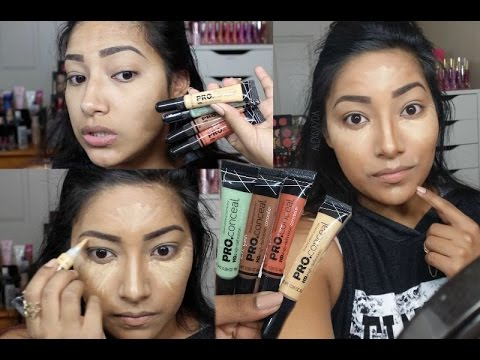 How I Contour. Conceal & Correct My Face Using LA GIRL COSMETICS PRO Correctors & Concealers