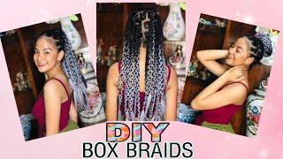 DIY BOX BRAID TUTORIAL❤️   Clarisse Castilo