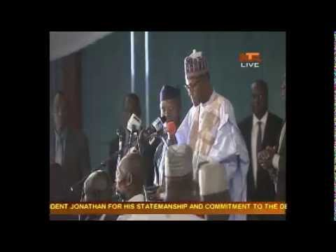 INEC Gives Certificate To Gen. Buhari Live Transmission From NTA
