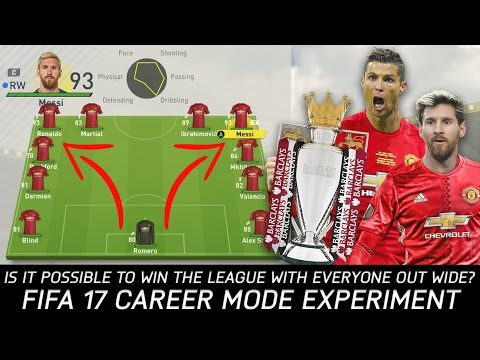 Is It Possible To Win The League With Everyone Out Wide? - FIFA 17 Experiment