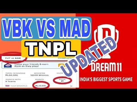 UPDATED | VBK VS MAD TNPL T20 MATCH | CRICKET PREDICTION