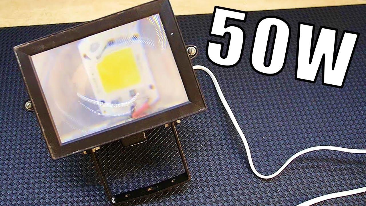Как собрать светодиодный прожектор своими руками 12