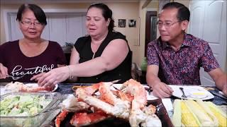 VLog 238 ll Cả Nhà Ăn CUA HOÀNG ĐẾ ( King Crab Legs )