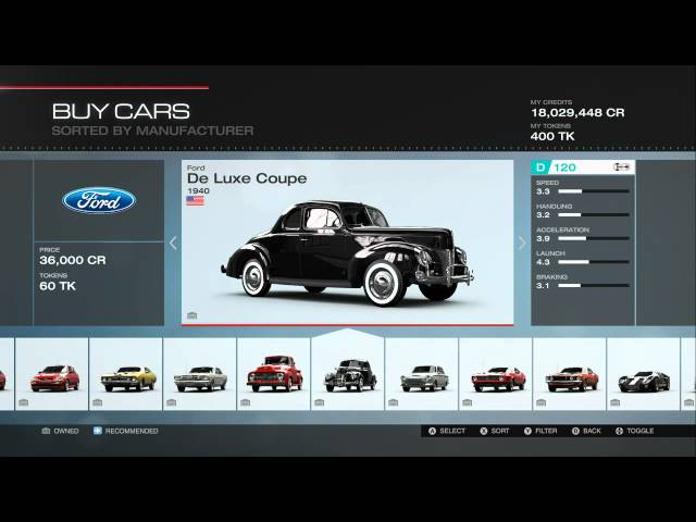 Forza Motorsport 5 All Cars (Including All DLC)