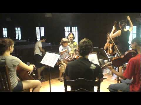 Jonathan first appearance to the SPIMA  orchestra. Lesson with Boris Vayner.MPG