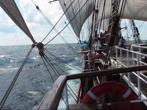 Lake Superior Tall Ship Sailing Race Finish at Whitefish Point