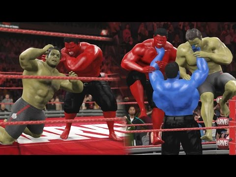 HULK VS RED HULK & BLUE HULK RETURNS! - WWE 2K16 EPIC BATTLE!
