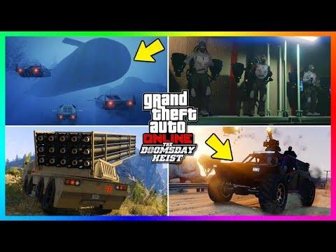 GTA Online The Doomsday Heist DLC Secret Features/Hidden Details - Jetpacks, NEW Vehicles & MORE!
