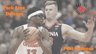 Virginia Cavaliers - Pack Line Defense - Post Defense