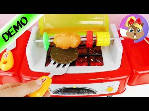 GRILL DLA DZIECI z muzyką, światłem i efektami dźwiękowymi | super kuchnia-zabawka do smażenia