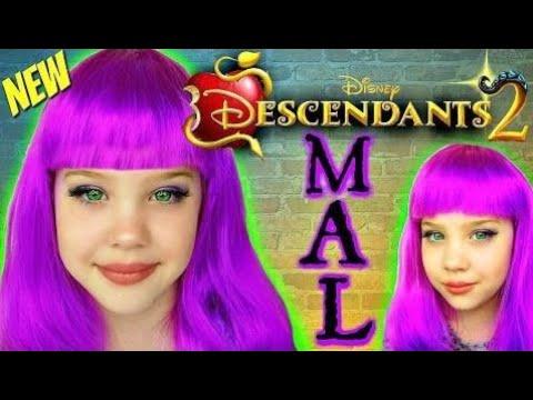 새로운 디즈니 자손 2 메이크업 튜토리얼, 아이들 화장