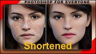 Chỉnh sửa ảnh đẹp chân dung (skin retouch) -shortened