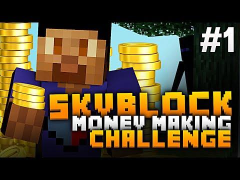 Minecraft SKYBLOCK MONEY MAKING CHALLENGE #1 with Vikkstar123 (Minecraft Sky Block Survival)