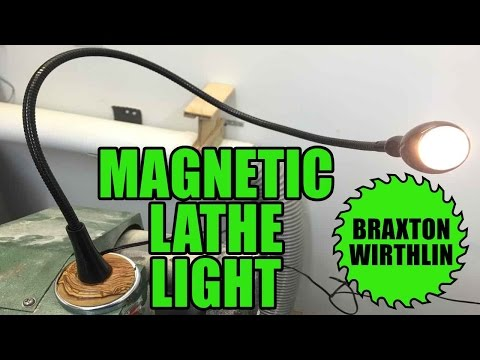 Easy DIY Magnetic Lathe Light    Collab   IKEA x Harbor Freight Hack