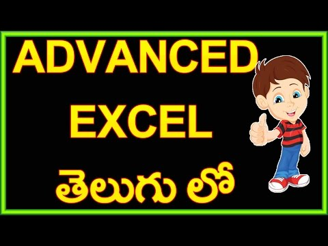 Advanced Excel In Telugu Part 1(9395306603) video