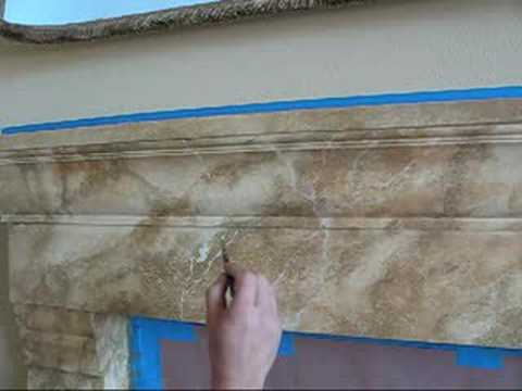 Faux Marble Fireplace By Southern California Artist At