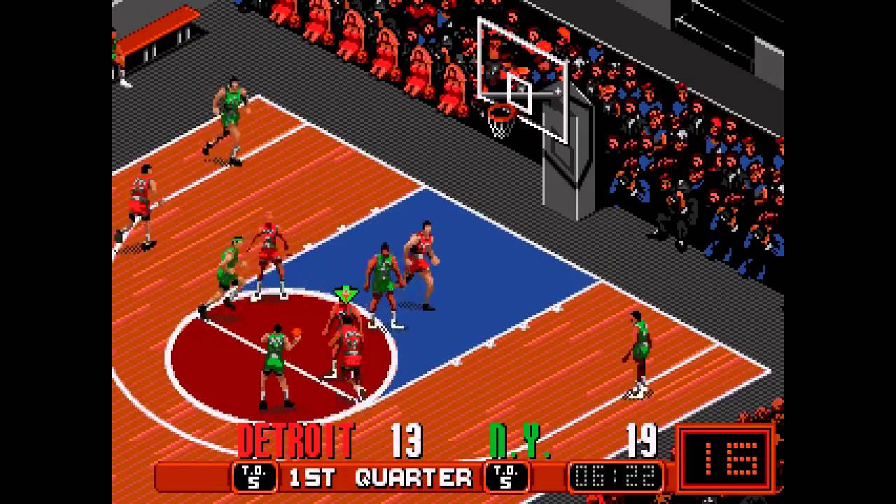 David Robinson Basketball ... Gameplay - (Sega Genesis ...