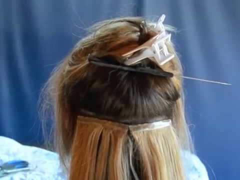 How to install using hair wefting tape and Liquid gold bond a weave!
