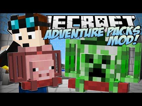 Minecraft   ADVENTURE PACKS MOD! (Super Duper Magical Bags!)   Mod Showcase