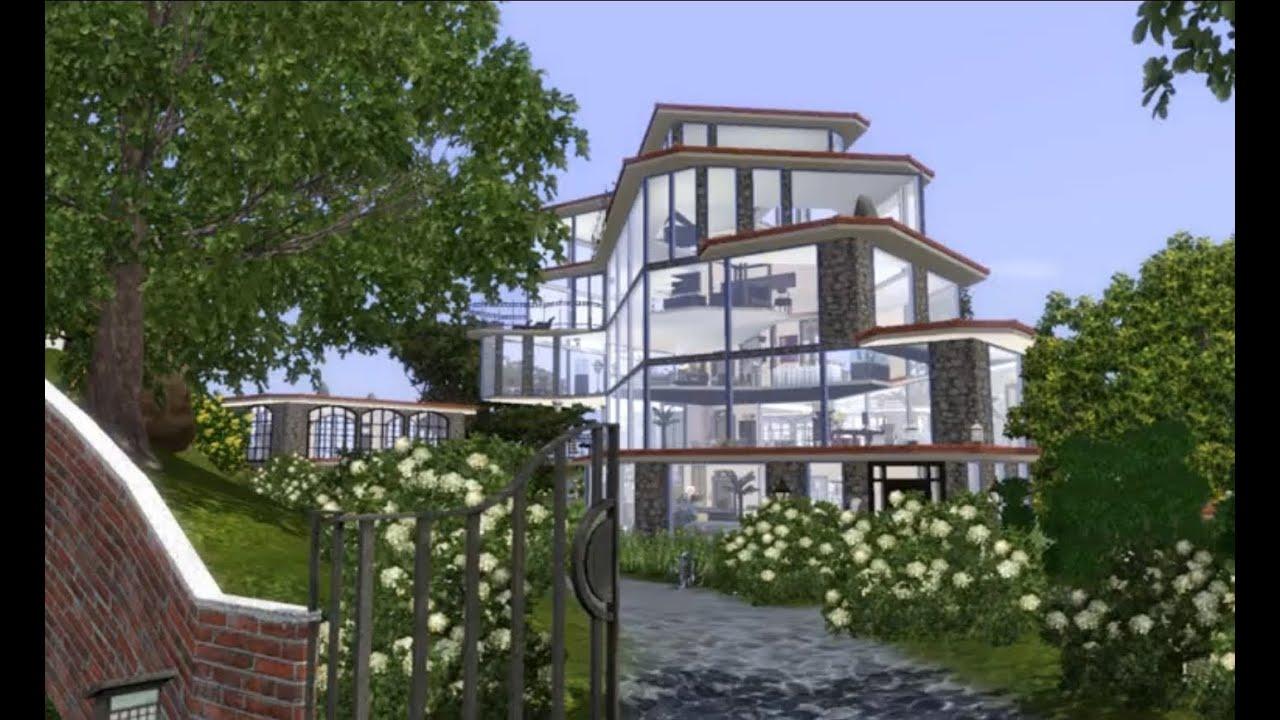 Sims 3 modern dream house youtube for Modern house 6 part 3