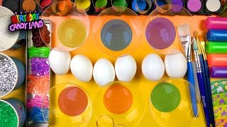 How to Decorate and color Easter Eggs with Coloring and Learn Colors for Kids