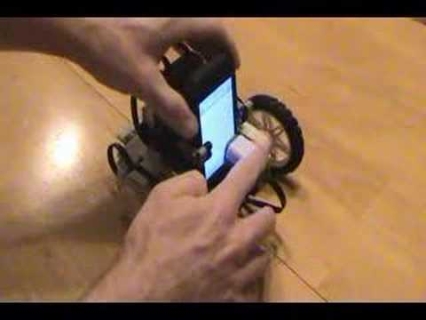 iPhone Lego Mindstorms NXT Robot Demo