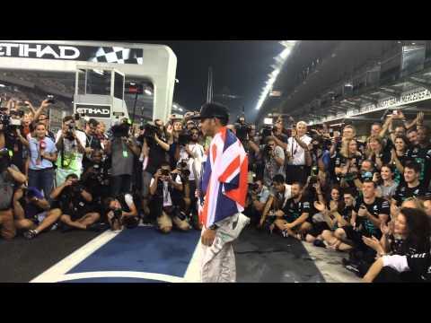 Lewis Hamilton in Abu Dhabi Grand Prix 2014