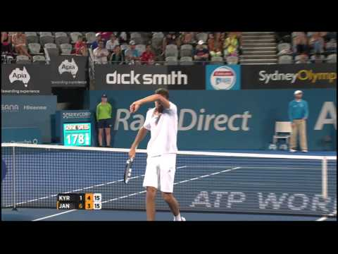 N. Kyrgios (AUS) vs J. Janowicz (POL) Highlights 2015 Apia Sydney International