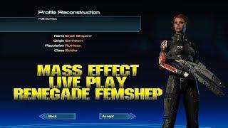 MASS EFFECT 2 - RENEGADE FEMSHEP - LIVE PLAY
