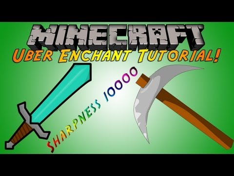 Minecraft Plugin Tutorial - Uber Enchant - Sharpness 10.000!