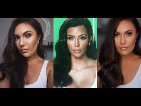 Kim Kardashian Inspired Hair & Makeup Tutorial ♡