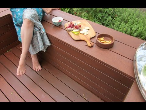 How to Build a DIY Deck with Bench Seats - YouTube