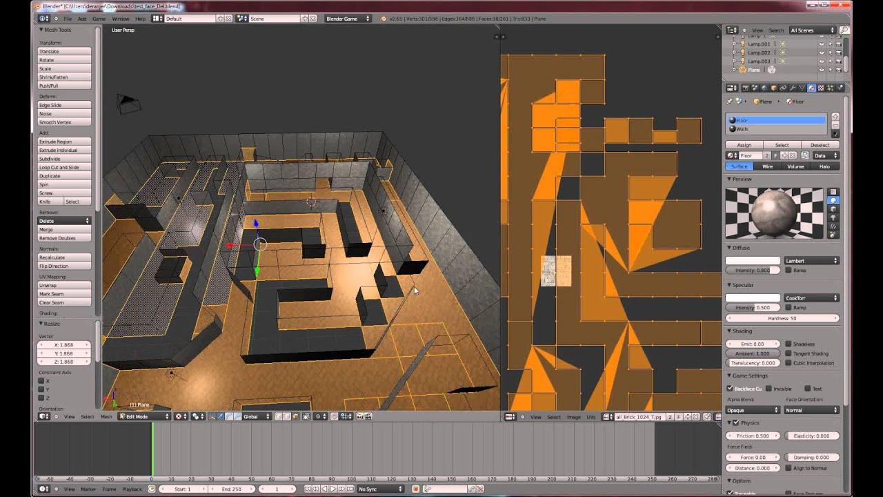 Blender GE 2.6 FPS Tutorial - Level Design P2 - YouTube