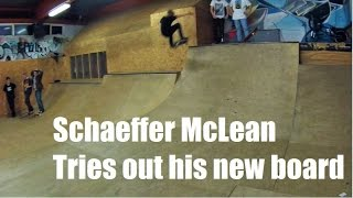 Schaeffer McLean Tries out his new board - Science Skateboard