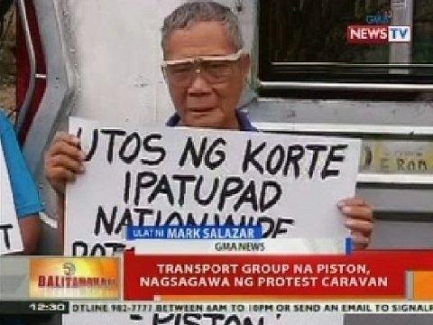 Transport group na Piston, nagsagawa ng protest caravan