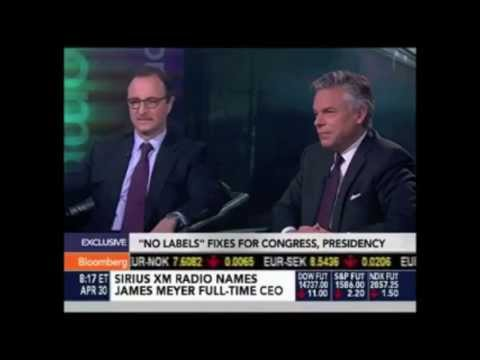 Gov. Jon Huntsman and Dan Arbess speak about No Labels on Bloomberg News
