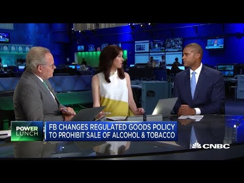 Facebook changes its policy to prohibit sale of alcohol, tobacco