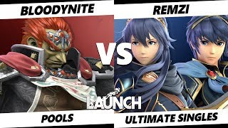 Launch Smash Ultimate -  Bloodynite (Ganondorf) VS  Remzi (Marth, Lucina) SSBU Pools