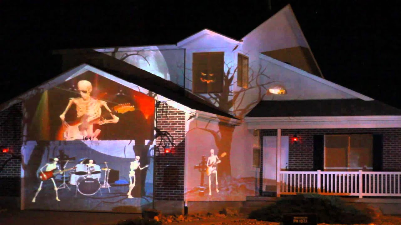 2014 Halloween House Projection Live Youtube