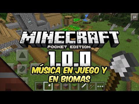 Noticias Minecraft PE 1.0.0 | Música en juego y en biomas | Tommaso