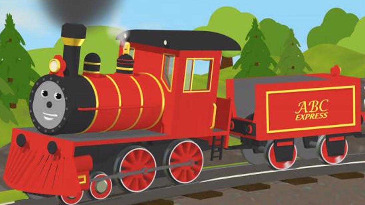 Учим цвета раскраска поезд мультик