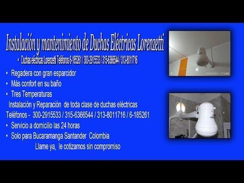 • Duchas eléctricas Lorenzetti Teléfonos 6-185261 / 6-494389 / 315-6366544