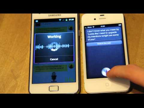 Siri Meets Iris! Samsung Galaxy S2 vs. iPhone 4S Voice Technology! Apple vs. Android! Music Videos