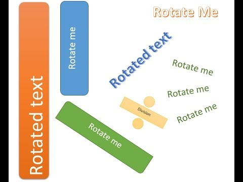 Microsoft Word - Rotate Text