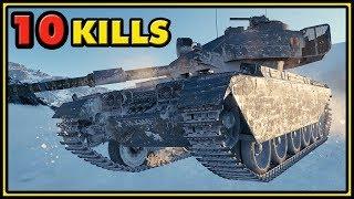 Centurion Action X - 10 Kills - 10K Damage - World of Tanks Gameplay