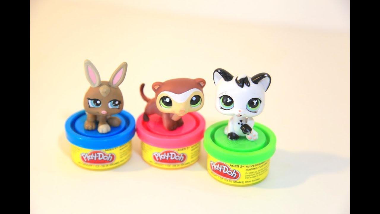 Littlest Pet Shop Play With Play Doh Play Dough Toys Lps