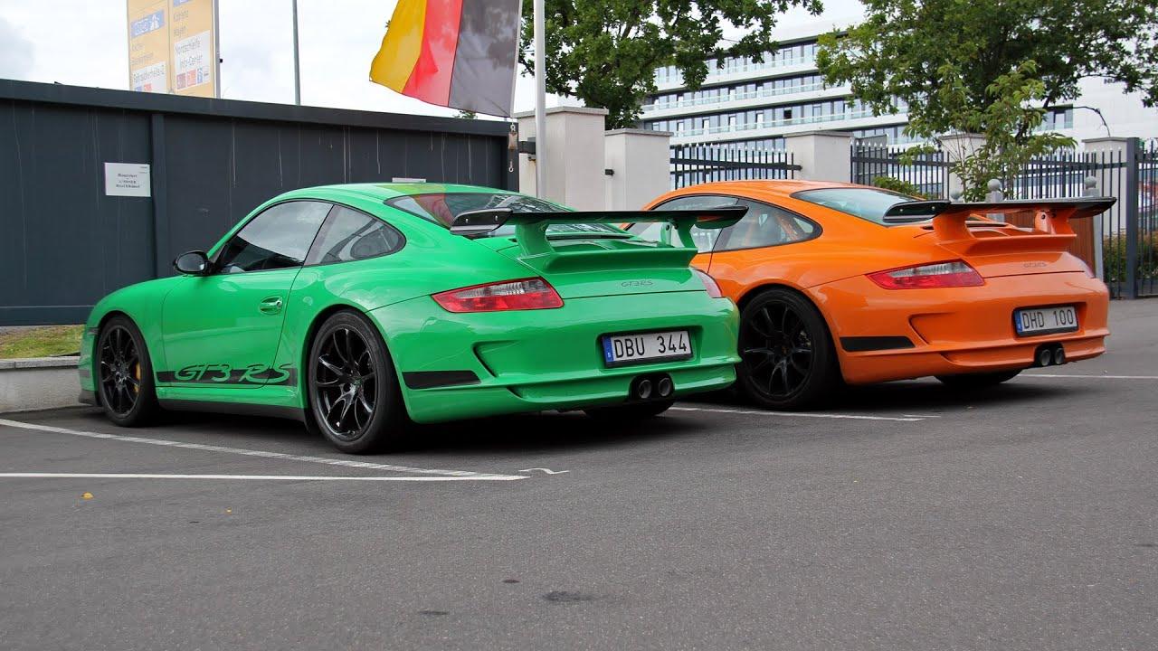 2x Porsche 997 GT3 RS Green Or Orange YouTube