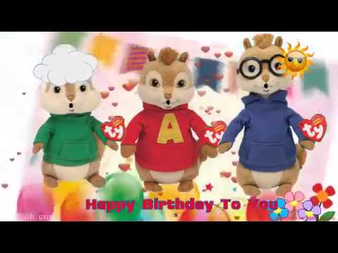 Happy Birthday Alvin Chipmunks Song Alvin And The Chipmunks Song